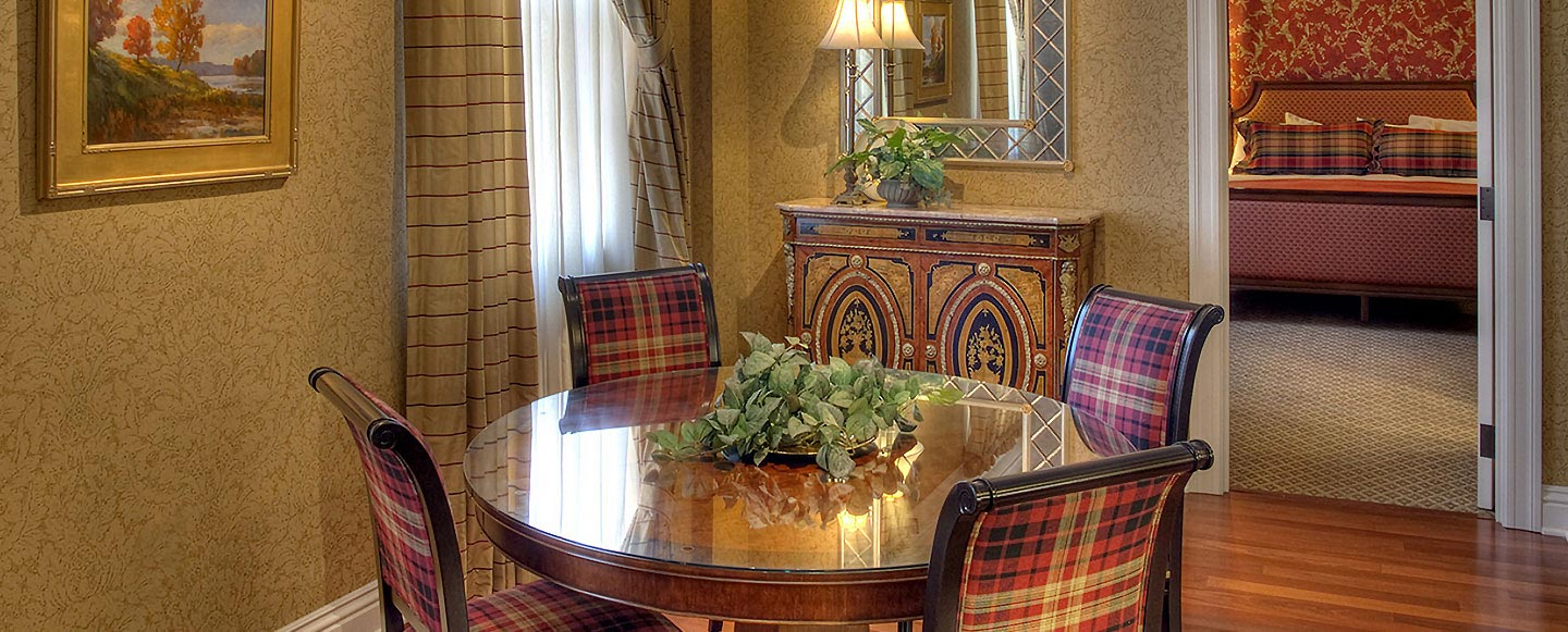 Dining Table of Suites at Charley Creek Inn - Wabash, Indiana