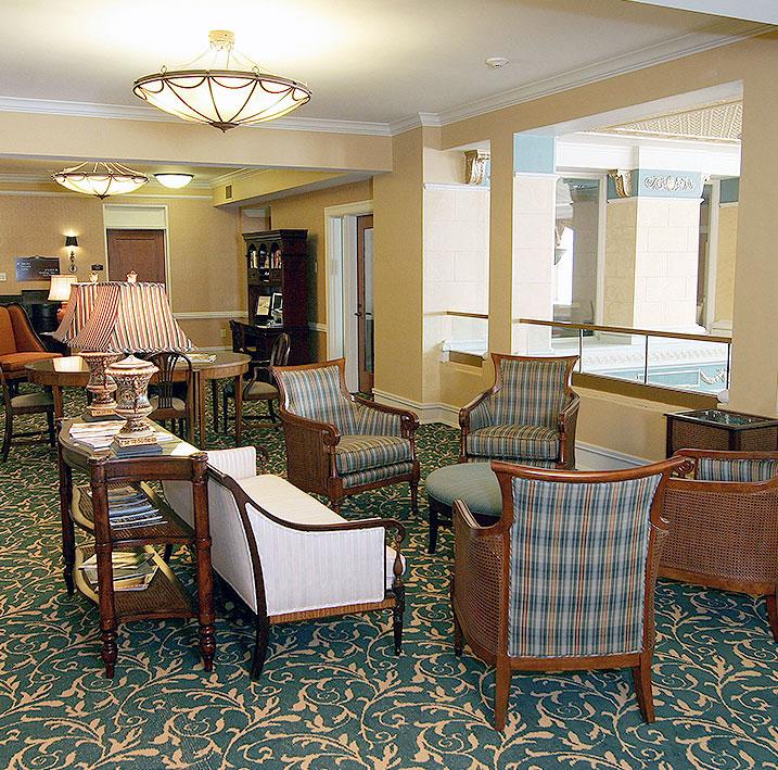 Virginia Ford Mezzanine Lobby at Charley Creek Inn - Wabash, Indiana